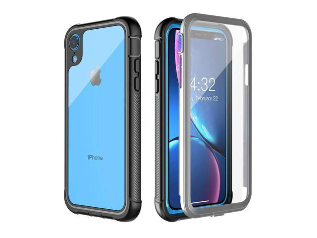 new concept 5b1d6 543b3 Clear Designed Case for iPhone XR Case,Pakoyi Full Body Bumper Case with  Built-in Screen Protector Slim Clear Shock-Absorbing Dustproof Lightweight  ...