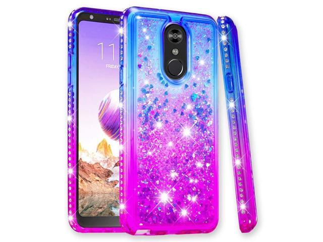 LG Stylo 4 Case, LG Stylo 4 Plus Case, LG Q Stylus Cover, Zoeirc Glitter  Liquid Quicksand Sparkle Diamond Cute Shock Absorption Clear Protective  Phone