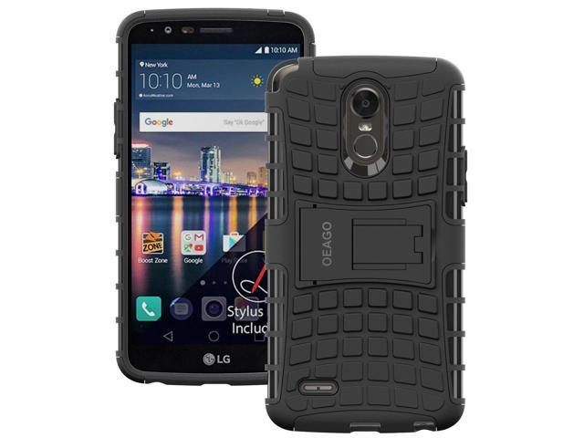 separation shoes 3dbdf ac78c LG Stylo 3 Case, LG Stylo 3 Plus Case, OEAGO [Shockproof] [Impact  Protection] Tough Rugged Dual Layer Protective Case with Kickstand for LG  Stylo 3 / ...