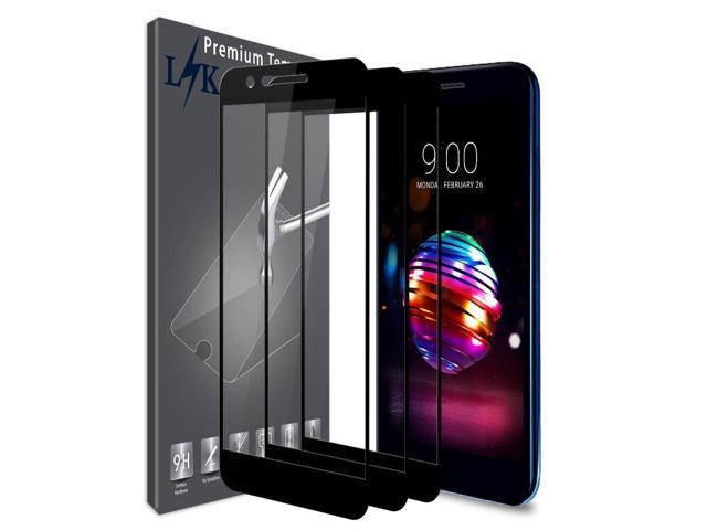 [3 Pack] LK Screen Protector for LG K10 2018 / LG K30, [Full Cover]  Tempered Glass with Lifetime Replacement Warranty (Black) - Newegg com