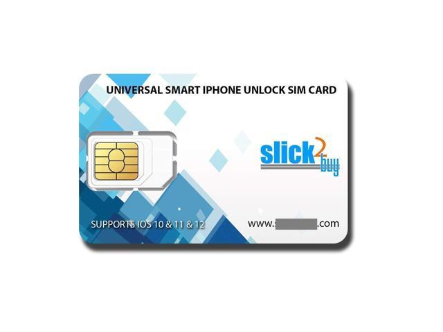 ?SLICK2BUY?SMART UNLOCK SIM, Compatible with iPhone XS XR, XS MAX -UNLOCK  SPRINT,VERIZON,ATT,TMOBILE,METRO,XFINITY TO ANY GSM SIM (DO NOT SUPPORT