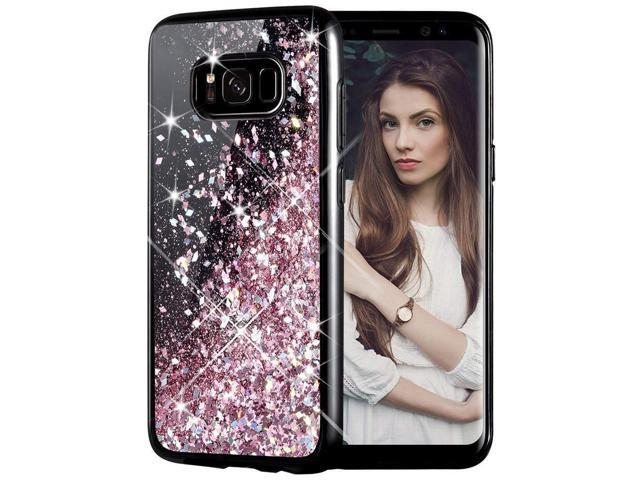 the best attitude 3b6d8 84993 Galaxy S8 Plus Case, Caka Galaxy S8 Plus Glitter Case [Starry Night Series]  Luxury Fashion Bling Flowing Liquid Floating Sparkle Glitter Girly TPU ...