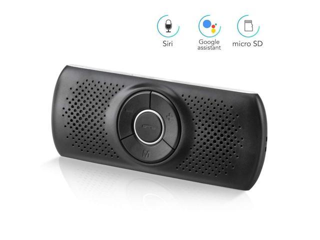 AGPTEK Bluetooth Car Speakerphone 2 Cell Phones Bluetooth Connection Bluetooth Visor Speakerphone for Android /& iOS Wireless Hands Free Car Kit with Siri /& Google Assistant T826, Black