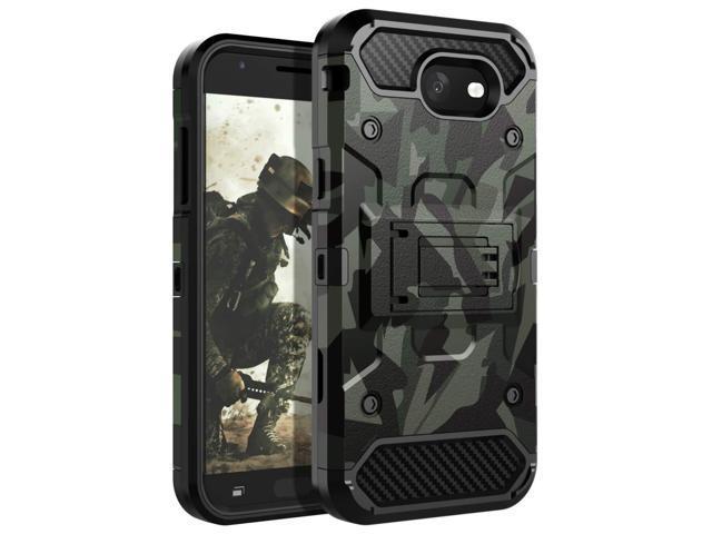 newest 4fe46 c6cbd HUATRK Samsung Galaxy J3 2017 Case Man Armor Kickstand Heavy Duty  Shockproof Protective Case for Galaxy J3 Emerge/J3 Prime/J3 Mission/J3  Eclipse/J3 ...