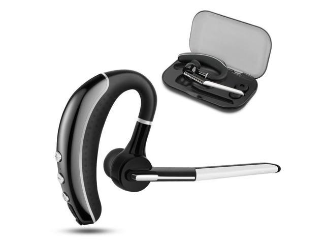 Bluetooth Headset V4 1 Mlevis Wireless Business Earpiece Trucker In Ear Earbuds Headphones With Noise Reduction Mute Switch Hands Free W Mic For Office Business Workout Driver Trucker Newegg Com