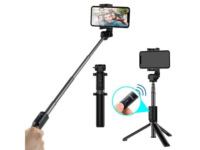 promo code d9a41 9ed2f Selfie Stick Bluetooth Phone Tripod Stand, CAIYOULE Extendable Monopod with  Built-in Bluetooth Remote Shutter Rotate 360°for iPhone X/8/8P/7P/7/6S/, ...