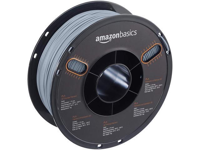 3d Printer Filament >> Amazonbasics Pla 3d Printer Filament 1 75mm Gray 1 Kg Spool Newegg Com