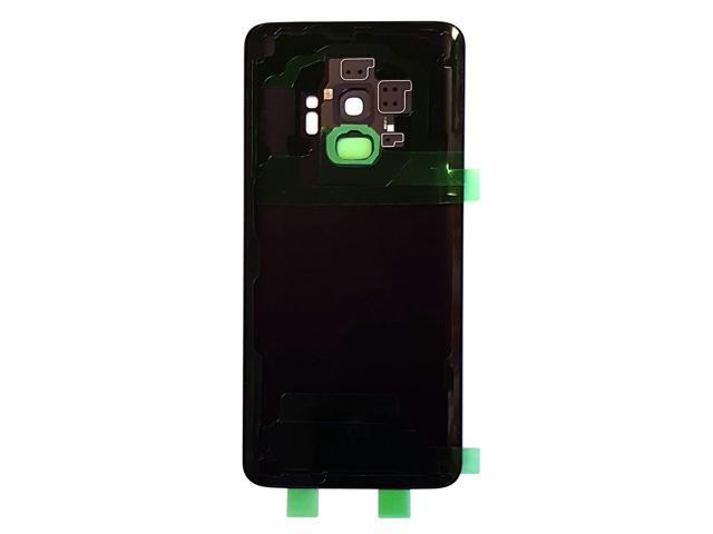 All Models G960 All Carriers Black CELL4LESS Back Glass Cover Back Door w//Pre-Installed Camera Frame l Adhesive Camera Lens /& Frame Compatible Fit for Samsung Galaxy S9 Removal Tool