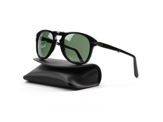 230ea91f64ba PERSOL Sunglasses PO 714 95/58 Black 52MM - Newegg.com