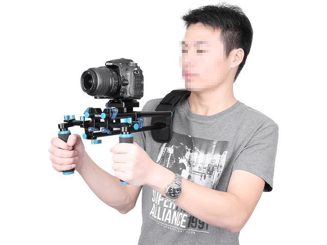 2f99b2b45 NEEWER® DSLR Shoulder Mount Support Rig with Camera/Camcorder Mount Slider,  Shoulder Lift
