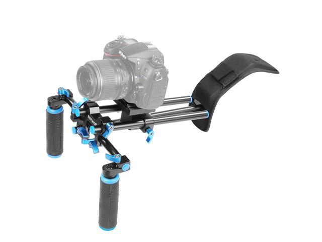 Video Shotgun Microphone Kit with Cold Shoe Tripod Head for All SLR Cameras and Home DV Camera Camera Parts Accessories LED Studio Light Hyx U//C Shape Portable Handheld DV Bracket Stabilizer
