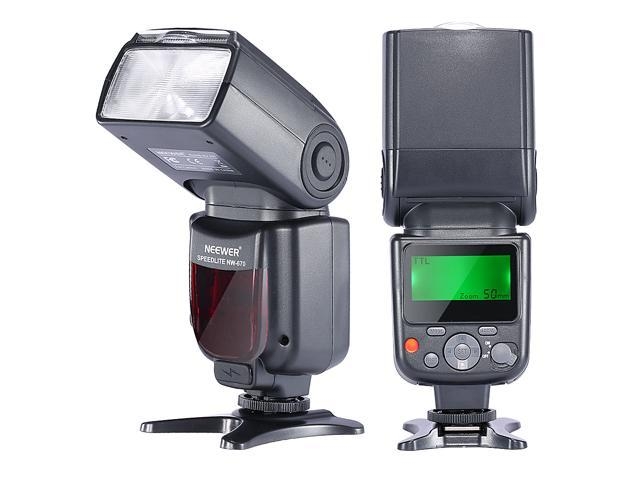 Neewer NW-670 TTL Flash Speedlite with LCD Display for Canon 7D Mark II,5D  Mark II  III,IV,1300D,1200D,1100D,750D,700D,650D,600D,550D,500D,100D,80D,70D