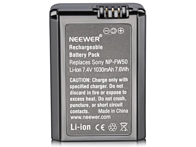 Neewer 7.2V 1080mAh Camera Battery Replacement FW50 for Sony Alpha 7, a7, Alpha