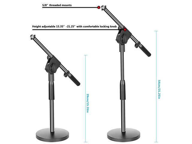 Admirable Neewer Adjustable Desktop Microphone Stand With Boom Arm 5 8 Inch Threaded Mount For Dynamic Condenser Microphones Height Ranges 15 21 Inches Metal Interior Design Ideas Clesiryabchikinfo