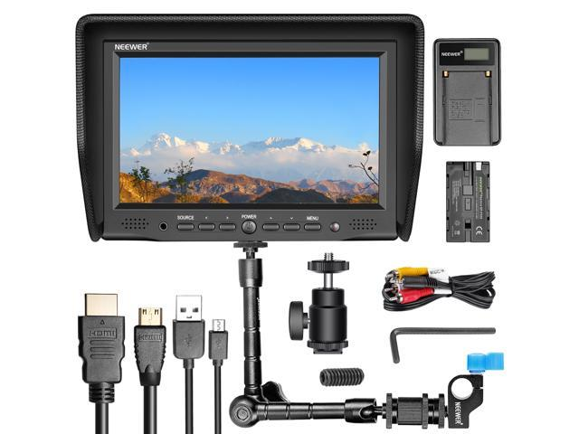 Neewer NW-708M 7 inches On-Camera Field Monitor Kit:800x480 High Resolution  IPS Screen Monitor, 11 inches Magic Arm with Rod Clamp, Battery Charger,
