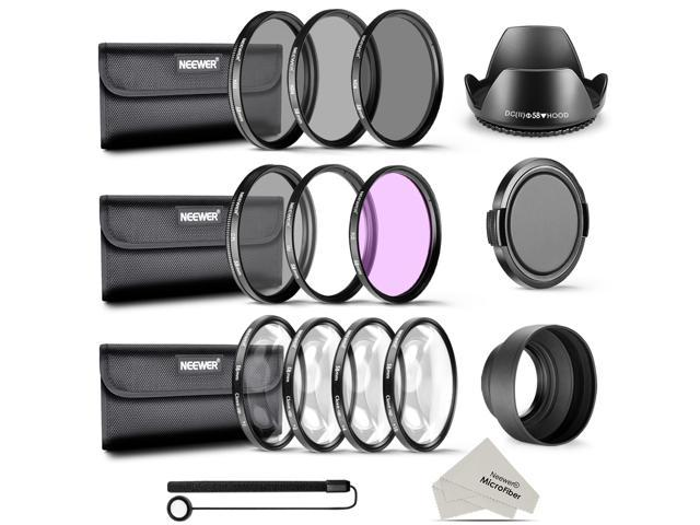 Neewer 58MM Complete Lens Filter Accessory Kit for CANON EOS REBEL 700D 650D 600D 550D(