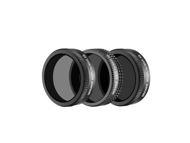 with Carrying Case Includes Multi-Coated MC-16 HD Neutral Density Filters Neewer 3 Pieces Drone Lens Filter Kit for DJI Mavic Air Quadcopter ND4, ND8, ND16