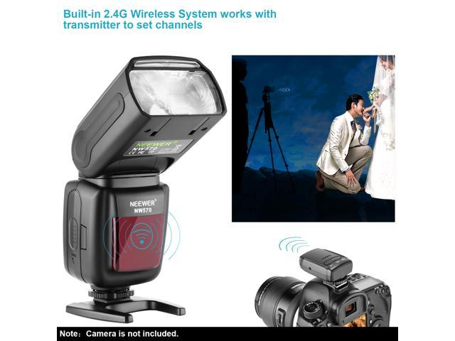 Neewer® Flash Speedlite with 433MHz Wireless System and 16 Channel RT  Transmitter for Canon Nikon Sony Panasonic Olympus Fujifilm Pentax and  Other