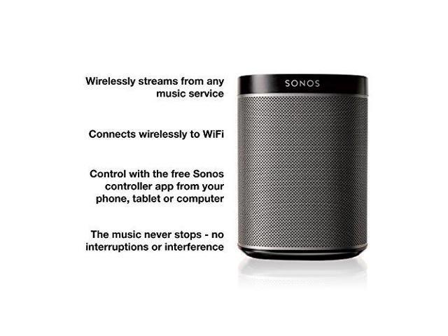 Sonos Play 1 Compact Music Streaming Wireless HD HiFi Speaker System -  Black - Newegg com