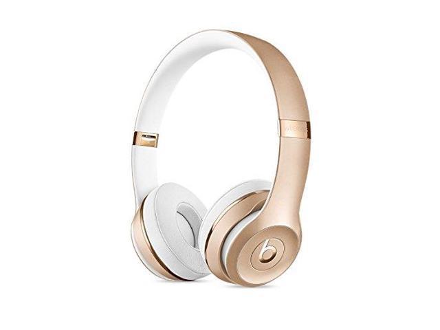 Beats By Dr Dre Solo3 Wireless On Ear Headphones Gold Newegg Com