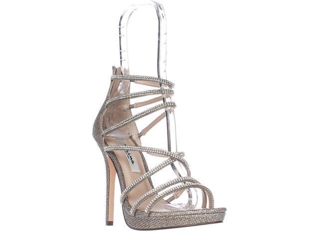 45a7a766e Nina Finessa Strappy Evening Sandals, Latte Dreamland, 7.5 US / 38 ...