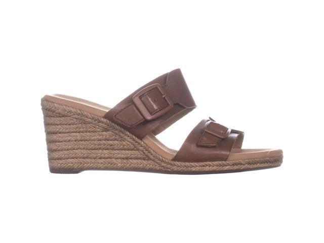 fe1009e39f2 Clarks Lafley Devin Wedge Espadrilles Sandals, Dark Tan Leather, 9 US / 40  EU - Newegg.com