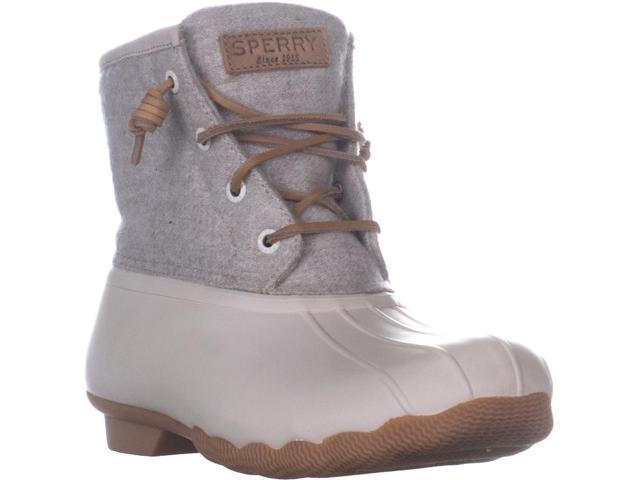 b19d91a45e085 Sperry Saltwater Emboss Wool Rain Boots, Off White, 9 US / 40 EU ...