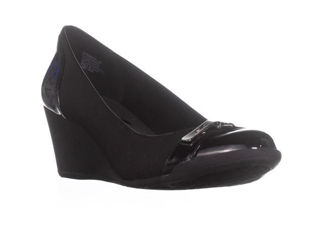 747a749c27 Anne Klein Sport Tamarow Wedge Pumps, Black Multi, 5 US / 35 EU ...