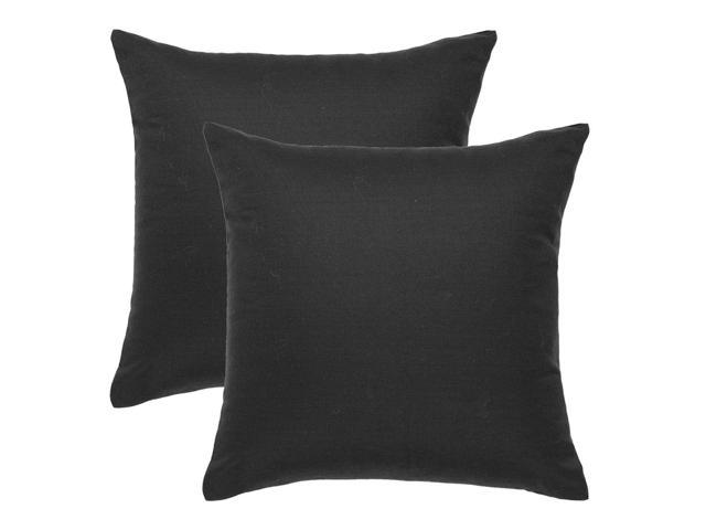 Pillow Covers 18 X Inch Set Of 2 Throw Cushion Case Holiday Decorative Cotton Canvas For Sofa Black Newegg