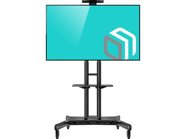 Onkron Mobile Tv Stand With Wheels Rolling Cart For 55 To 80 Inch Lcd Led Flat Panel Tvs Ts1881