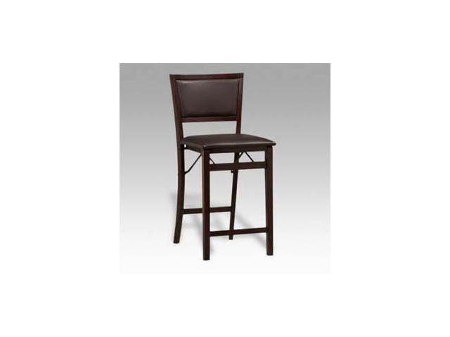 Excellent Linon Triena Pad Back Folding Center Stool 24H 01831Esp 01 As U Newegg Com Squirreltailoven Fun Painted Chair Ideas Images Squirreltailovenorg