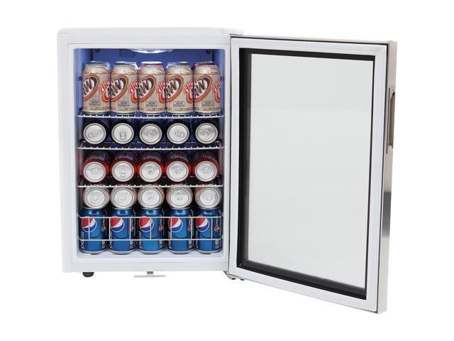 Whynter 62 Can Capacity Stainless Steel Beverage Refrigerator with Lock