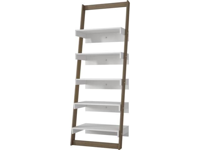 info for b1342 00232 Manhattan Comfort 20AMC22 Accentuations by Brilliant Carpina Ladder Shelf  with 5-Floating Shelves in an Oak Frame & White Shelves - Newegg.com