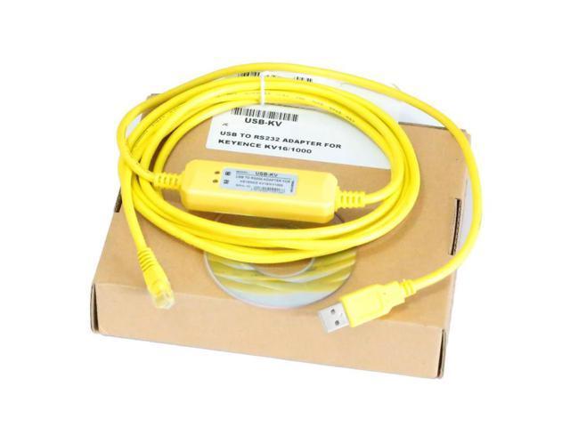 1pc Programming cable USB-KV for KEYENCE KV16/28/48 PLC WIN7 VISTA USB to  RS232 - Newegg com