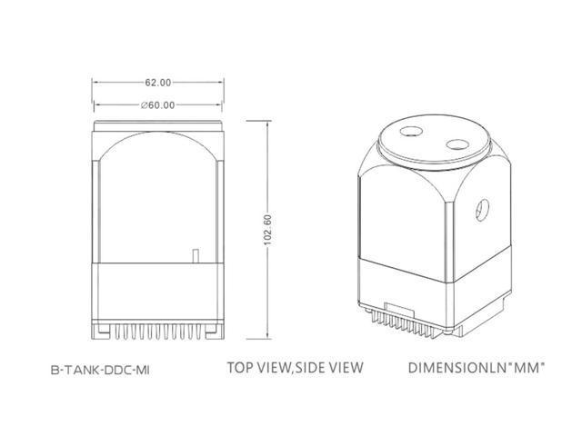 B-Tank-DDC-MI Red Bykski Mini DDC Pump Reservoir Combo w//Armor