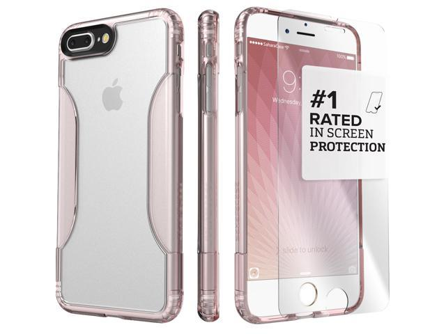 buy popular 33dc8 df154 SaharaCase iPhone 8 Plus & 7 Plus Rose Gold Clear Case, Classic Protective  Kit Bundle with ZeroDamage Tempered Glass - Newegg.com