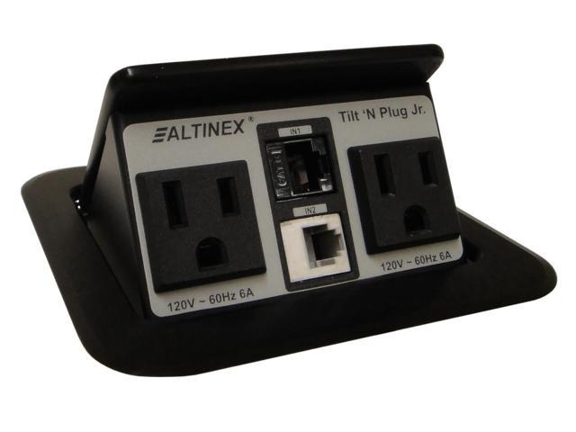 Altinex TNP155 Tilt n Plug Jr Tabletop InterconnectBox w//2+2 Charging USB /&Power
