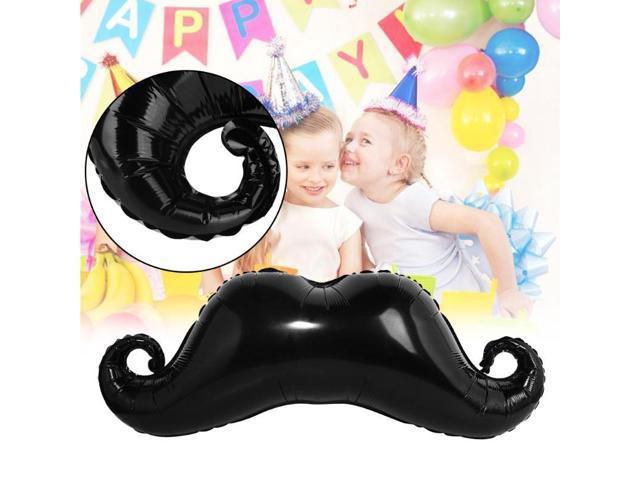 1pcs Little Man Baby Shower Decorations Balloons Mustache Ball Halloween Black Beard Christmas Balloon Kids Toys Supplies