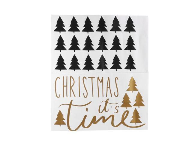 Christmas Wall Decals Removable.Diy Merry Christmas Wall Stickers Decoration Tree Window Wall Stickers Removable Vinyl Wall Decals Xmas Decor Newegg Com