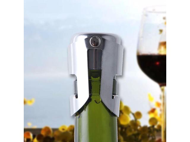 Taloyer Stainless Steel Sparkling Wine Bottle Stopper Champagne Sealer Stopper