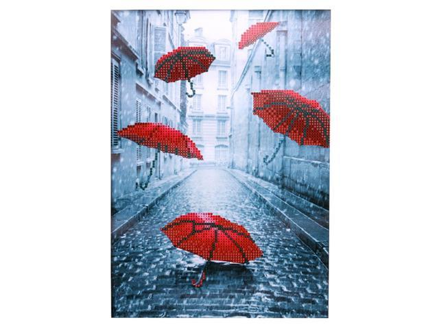 DIY 5D Red Umbrella Round Resin Diamond Painting Mosaic Embroidery Craft Decor
