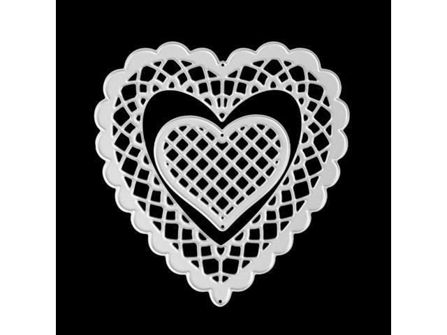 Heart Hollow Frame Metal Cutting Dies Stencils For DIY Embossing Die Scrapbooking /Photo Album Paper Card Cut Craft - Newegg.com