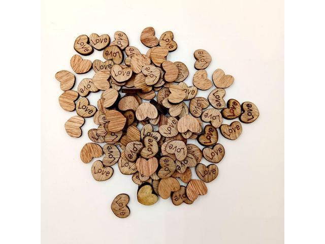100pcs Artscraft Rustic Wooden Love Heart Table Scatter Wedding Party Decor Scrap Booking Crafts Supplies E2s Newegg Com