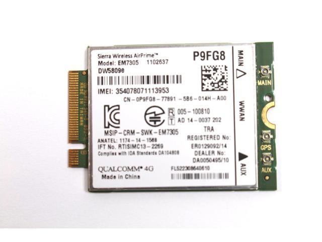 EM7305 Qualcomm Sierra Wireless AirPrime WWAN 4G LTE for Dell