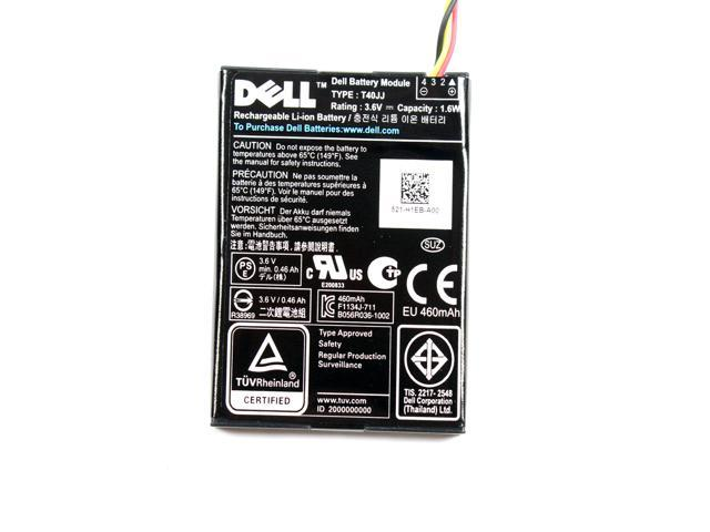 Refurbished: Genuine DELL 3 6V 1 6Wh 460mAh T40JJ Rechargeable Li-ion  Battery - 37CT1 -For DELL H710 H710P H810 PowerEdge Server - Newegg com