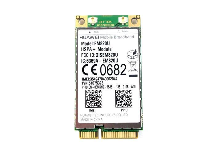 New Dell Huawei EM820U GPS 3GB GSM WWAN HSPA+ 21Mb MINI PCI-E Network Card  Module F8V4D - Newegg com