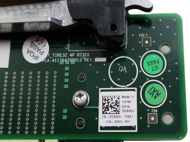 Dell GN965 Poweredge R905 Processor Riser Board 3 /& 4 CPU CN-0GN965