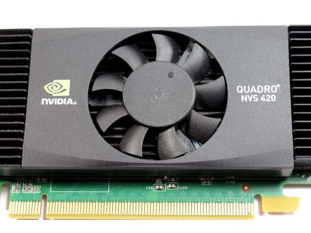 Nvidia Quadro NVS 420 512MB Quad Monitor Video Card 0H995J And DVI Cable
