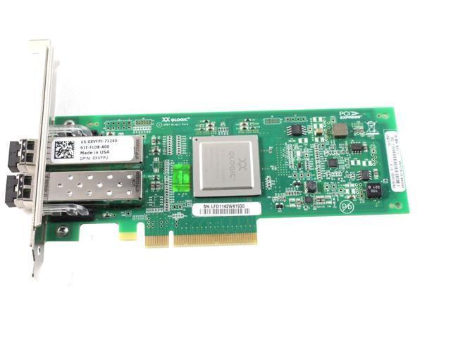 Qlogic QLE2562 8GB Dual Port PCIe Fibre Channel Adapter W// 2x SFP