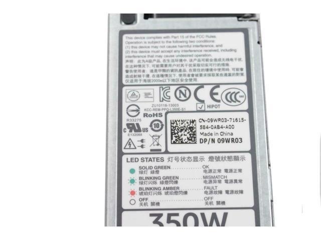 Refurbished: Dell PowerEdge R320 R420 80Plus Platinum 350w Server Power  Supply L350E-S1 9WR03 CN-09WR03 - Newegg com